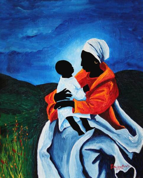 Motherhood Painting - Madonna And Child First Words by Patricia Brintle