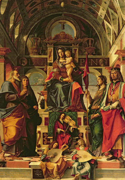Violas Painting - Madonna And Child With Saints by Bartolomeo Montagna