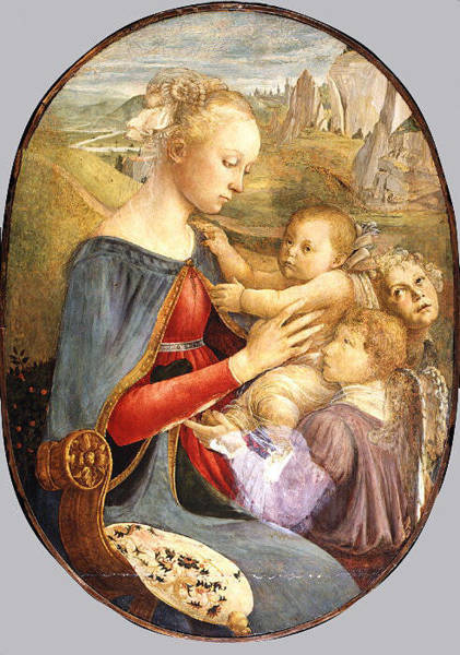 Botticelli Wall Art - Painting - Madonna And Child With Two Angels by Attributed to Botticelli