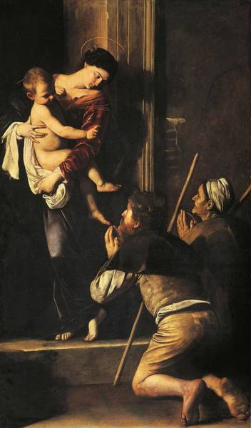Mercy Wall Art - Painting - Madonna Dei Pellegrini Or Madonna Of Loreto by Michelangelo Merisi da Caravaggio