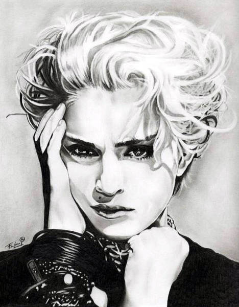 Madonna Drawing - Madonna by Fred Larucci