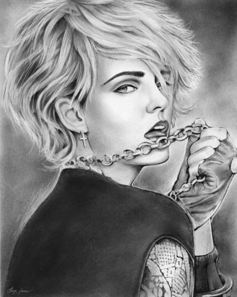 Popular Wall Art - Drawing - Madonna by Greg Joens