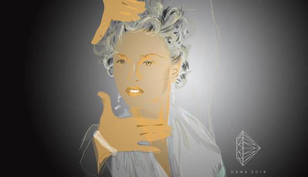 Hana Digital Art - Madonna by Hana Dutina