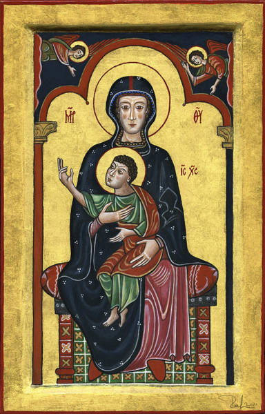 Painting - Madonna In Throne With Child. - Madonna In Trono Con Bambino.  by Raffaella Lunelli