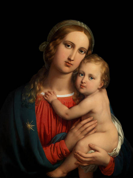 Digital Art - Madonna by Johann Ender
