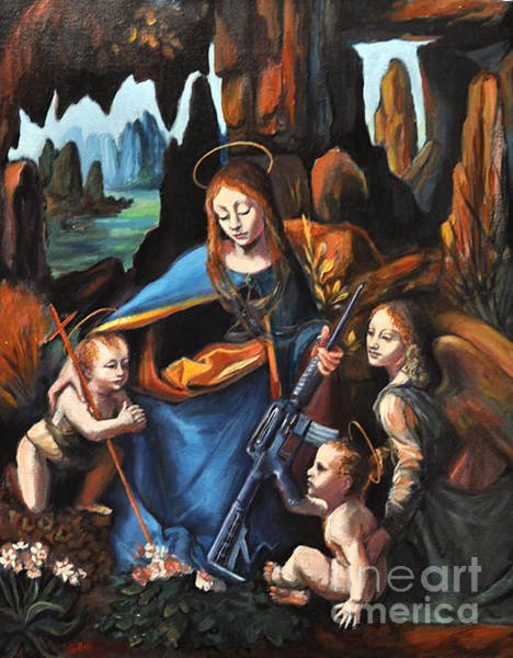 Ar 15 Painting - Madonna Of The Glocks--and More by Gayle Bell