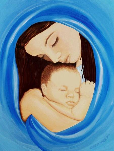 Lamb Of God Wall Art - Painting - Madonna Of The Sea by Sophia Schmierer