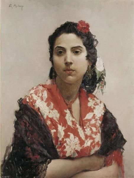 Gitana Wall Art - Photograph - Madrazo, Raimundo 1841-1920. Gypsy by Everett