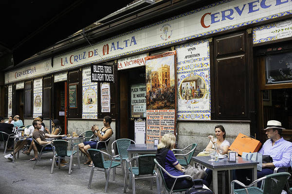 Wall Art - Photograph - Madrid Cafe 2014 by Madeline Ellis