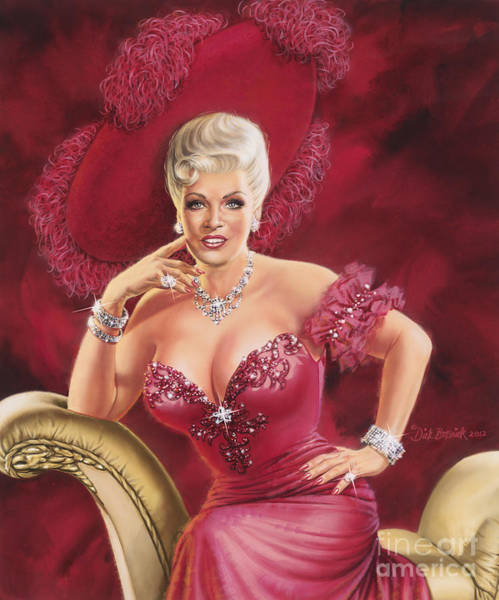 Wall Art - Painting - Mae West by Dick Bobnick