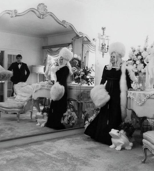 Photograph - Mae West Inside Her Home by Cecil Beaton