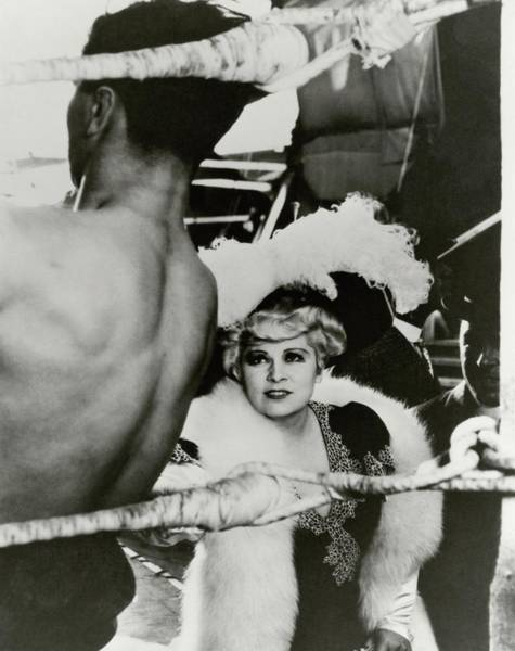 No People Photograph - Mae West On The Set Of It Ain't No Sin by George Hoyningen-Huene