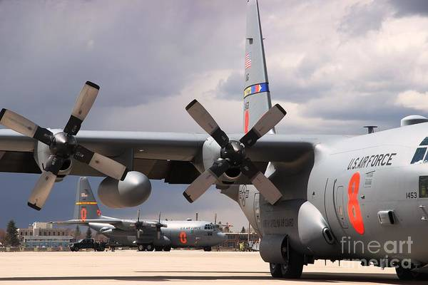 Photograph - Maffs C-130s At Cheyenne by Bill Gabbert