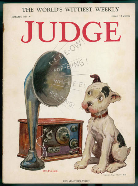 1924 Drawing - Magazine Cover, Dog And Radio - by Mary Evans Picture Library