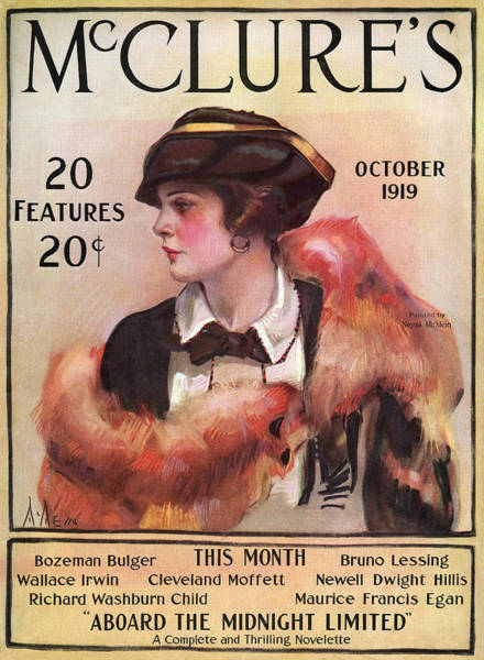 Boa Painting - Magazine Mcclure's, 1919 by Granger