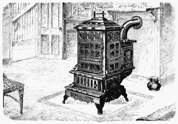 1880 Drawing - Magazine Stove, 1880 by Granger