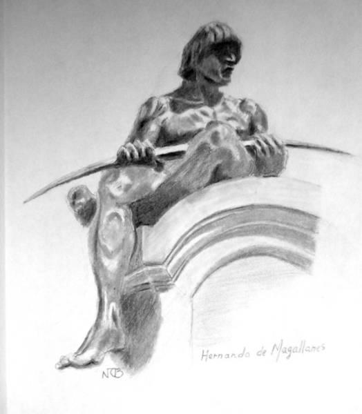 Painting - Magellan Memorial by Nicolas Bouteneff
