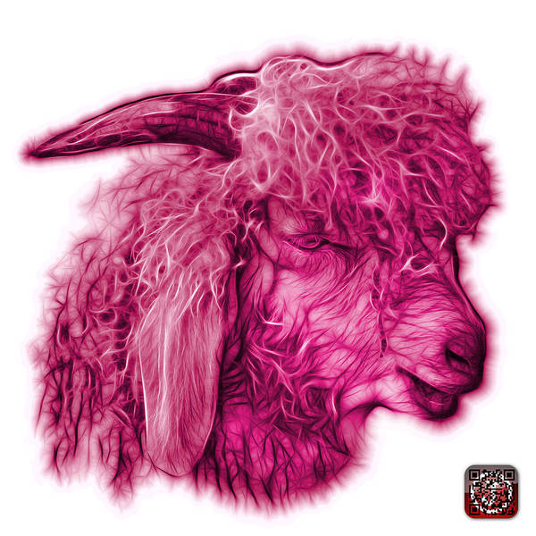 Digital Art - Magenta Angora Goat - 0073 Fs by James Ahn