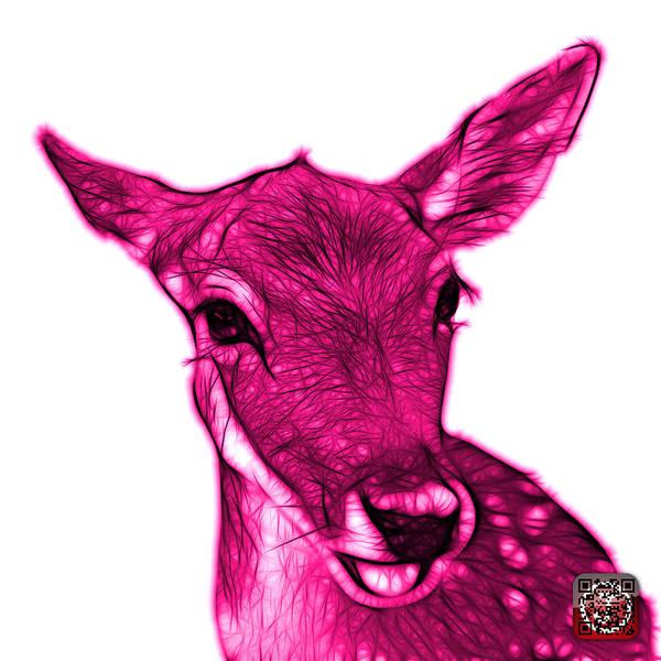 Digital Art - Magenta Deer - 0401 Fs by James Ahn