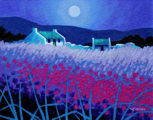 Atmospheric Painting - Magenta Field by John  Nolan