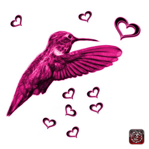Digital Art - Magenta Hummingbird - 2055 F S M by James Ahn