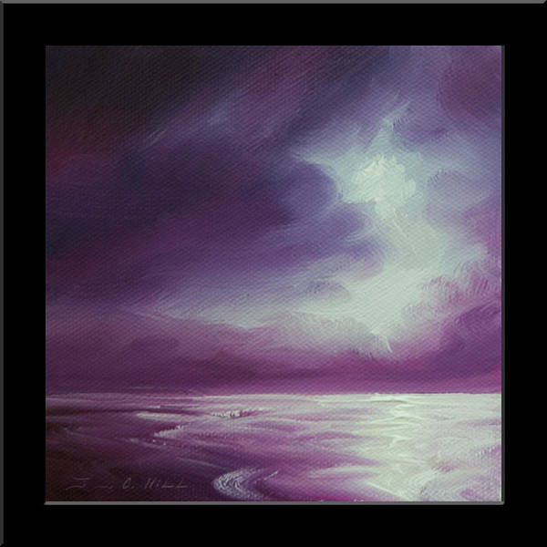 Painting - Magenta Moon Iv by James Christopher Hill