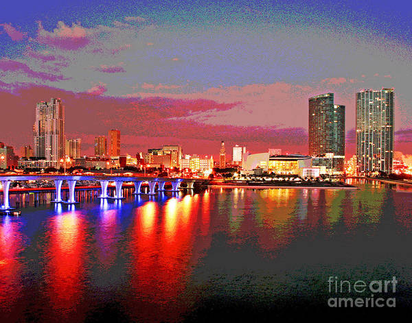 Photograph - Magficent Miami Sunrise by Larry Oskin