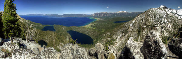 Lake Tahoe Photograph - Maggies Peak Panorama by Photo ©tan Yilmaz