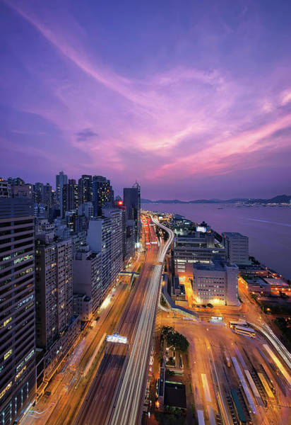 Rush Hour Photograph - Magic Hour by Mendowong Photography