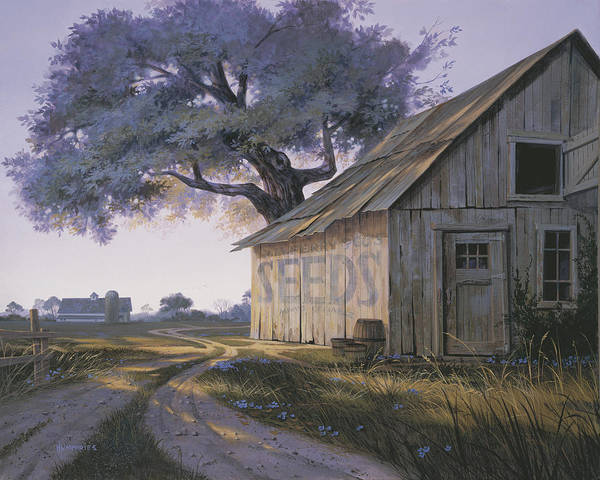 Old Barns Wall Art - Painting - Magic Hour by Michael Humphries