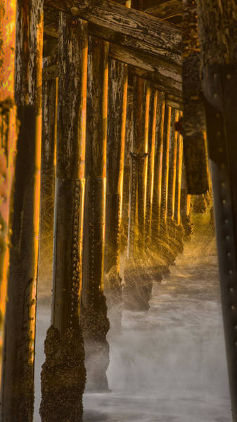 Magic Hour Under Seal Beach Pier Art Print