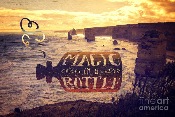 Photograph - Magic In A Bottle Twelve Apostles Great Ocean Road Australia by Beverly Claire Kaiya