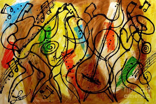 Wall Art - Painting - Magic Jazz 2 by Leon Zernitsky