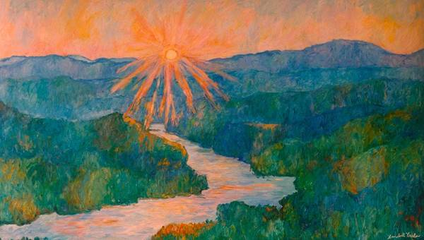 Painting - Magic Light At Carvins Cove by Kendall Kessler