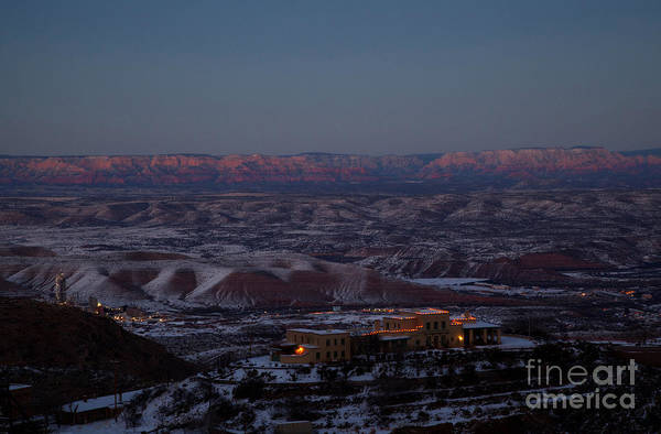 Photograph - Magic Light Red Rocks With Snow by Ron Chilston