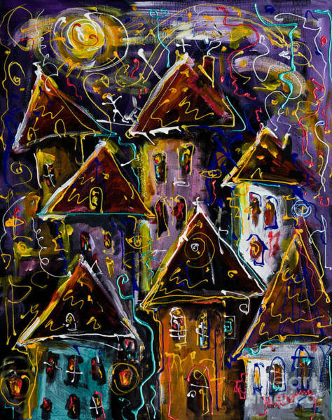 Painting - Magic Night by Maxim Komissarchik