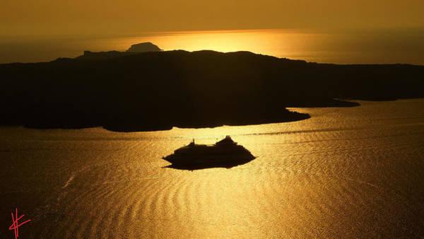 Photograph - Magic Sunset View From Santorini Island  by Colette V Hera  Guggenheim