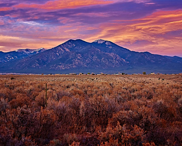Photograph - Magic Taos Sunset by Charles Muhle