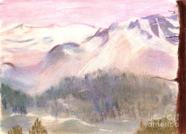 Charisse Painting - Serene Landscape And Mountain Man Face by Charisse Sotto
