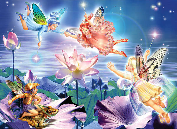 Magic Water Lily Art Print