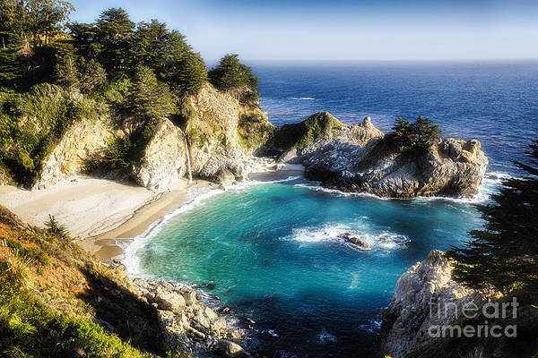 Monterey Park Photograph - Magical Cove With A Waterfall by George Oze