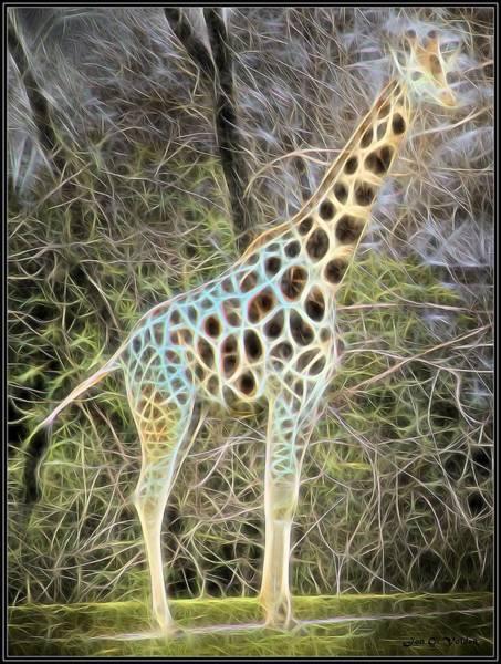 Painting - Magical Giraffe by Jon Volden