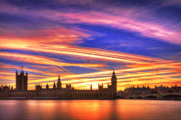 Westminster Bridge Photograph - Magical London by Midori Chan