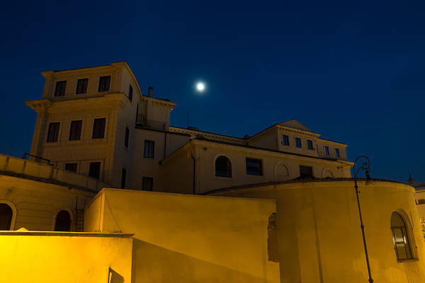 Magical Rome Italy - Yellow Facades And Moonlight Art Print