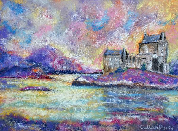 Eilean Donan Castle Painting - Magical Scottish Castle by Callan Art