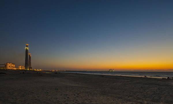 magical sunset moments at Caesarea  Art Print