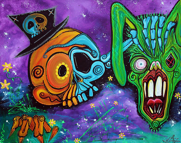 Wall Art - Painting - Magician De Los Muertos by Laura Barbosa