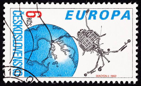 Czechoslovakian Photograph - Magion 2 Scientific Satellite  by Jim Pruitt