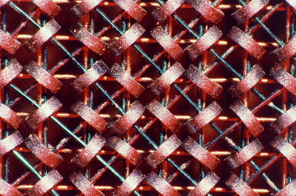 Core Photograph - Magnetic Core Memory Used In An Early Computer by Alfred Pasieka/science Photo Library