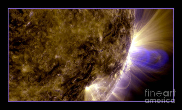 Photograph - Magnetic Loops On The Sun Nasa by Rose Santuci-Sofranko